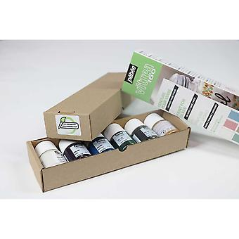 Pebeo Vitrea 160 Glass Paint Pastel Colour Initiation Set 6 x 20ml