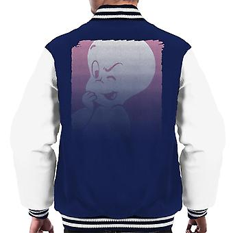 Casper The Friendly Ghost Winking Fade Men's Varsity Jacket