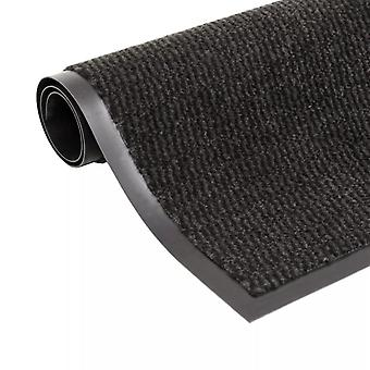 vidaXL الأوساخ اصطياد حصيرة مستطيلة 60 × 90 سم أسود
