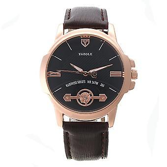 YAZOLE 365 Mode Män Kvarts klocka lysande företag wrist watch
