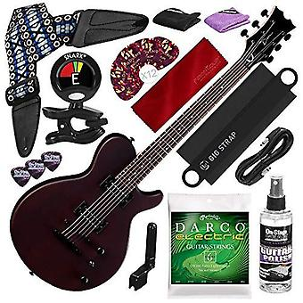 Dean evo xm solid body electric guitar, satin natural with guitar strap & massaging shoulder strap attachment deluxe bundle