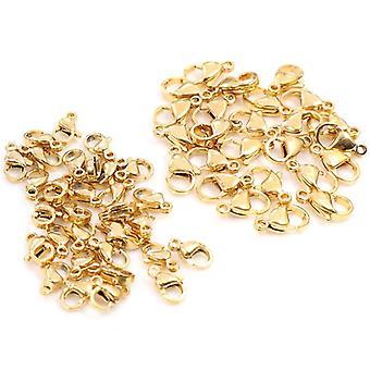 30pcs/lot Crochets en fermoir de homard en acier inoxydable pour collier et bracelet