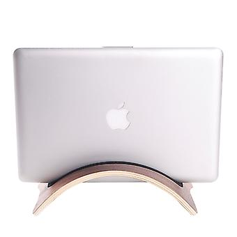 Superior Curved Wooden Stand Holder, For Tablet PC & Laptop(Brown)