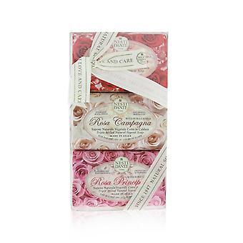 סט סבון רוזה (אוסף לה רוז) #rosa Sensuale #rosa Champagna #rosa Principessa - 3x 150g/5.3oz