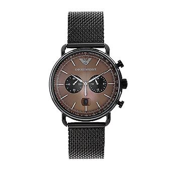 Armani Ar11141 Gunmetal Mesh Men-apos;s Chronograph Watch