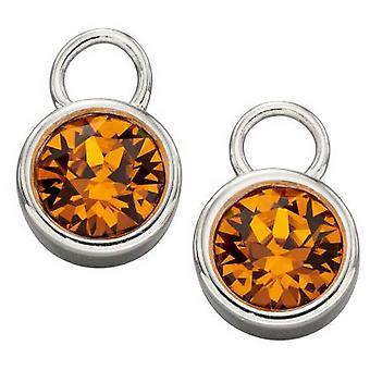 Inizio novembre Fascino pietra di nascita - Arancione/Argento