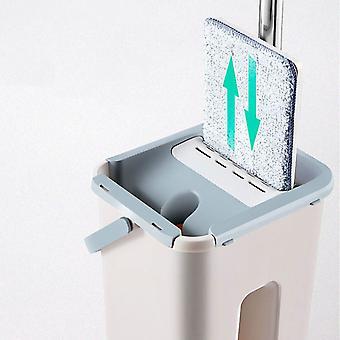 Automatisk hink Undvik Handtvätt Microfiber Rengöring Squeeze Magic Trä