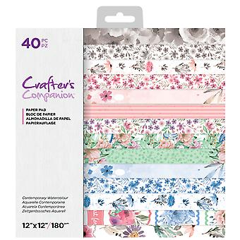 Crafter's Companion Contemporary Watercolour 12x12 Inch Paper Pad