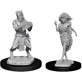 D&D Nolzur's Marvelous Unpainted Miniatures Satyr & Dryad (Pakke af 6)