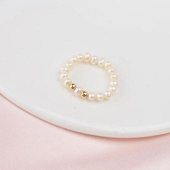 Natural Freshwater Pearl Couple Ring