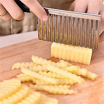 Kitchen Knives Stainless Steel Vegetable Fruit Wavy Cutter Potato Cucumber