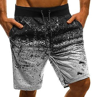 Mens Shorts, Beach Casual Running Sports With Pocket, Straight Sweatpants,
