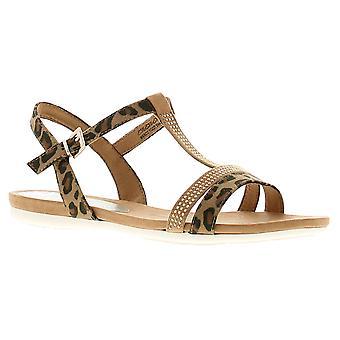 Aria womens ladies flat sandals desert/assorted UK Size