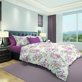 Parure Bettbezug Bunte Rosen aus Baumwolle, L150xP200 cm, L52xP82 cm