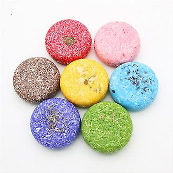 12 Colors Fashion Handmade Shampoo Soap Cold Processed Bar Pure Plant Hair Care