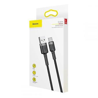 USB Type-C kaapeli 2M musta + harmaa
