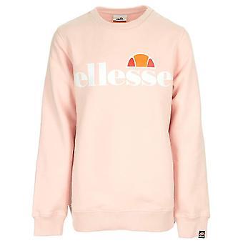 Ellesse Siobhen Junior Kinder Retro Fashion Crew Sweatshirt Pullover Hellrosa