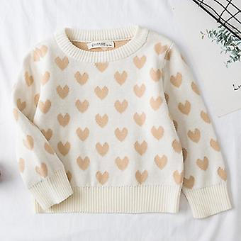 Autumn Baby Knitted Sweaters, Loving Heart Pattern Sweaters