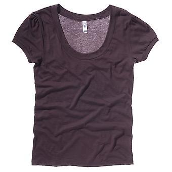 벨라 + 캔버스 여성/여성 빈티지 저지 스쿱 넥 반소매 티셔츠