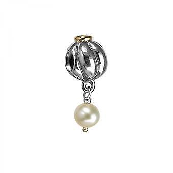 Pandora Blossom Hopea, 14k Kulta CZ & Pearl Charm 790402CZ