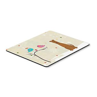 Caroline s Treasures Weihnachtsgeschenke, Irish Terrier Maus Pad, mehrfarbig, 7.75x9.25 (Bb2534Mp)