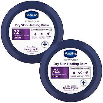 2x 250ml Vaseline ExpertCare DrySkin HealingBalm upp till 72H Intensiv återfuktning