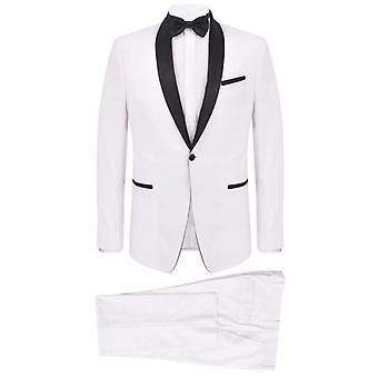 Pánské 2 ks černá kravata večerní oblek / kouření Smoking Velikost 48 Bílá