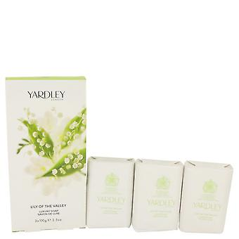 Lily of the valley yardley 3 x 3.5 oz soap by yardley london 535326 104 ml