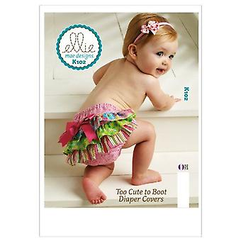 Kwik Sew K0102 Too Cute to Boot Diaper Covers Sewing Pattern, Size XS-S-M-L-XL
