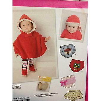 Yksinkertaisuus ompelu kuvio 1734 Vauvan pikkuponi vaipan kansi hattu koko XS-L