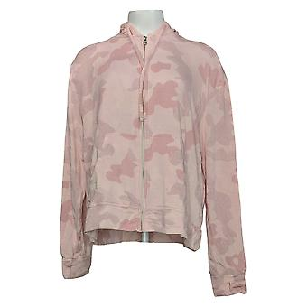 All Worthy Hunter McGrady Women's Print Zip Front Hoodie Pink A392743