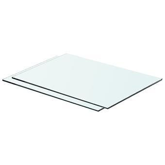 vidaXL hyllyt 2 kpl. lasi Läpinäkyvä 50 x 30 cm