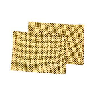 Amsons Borak Placemats Pair Black And Gold