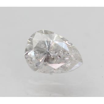 Certificado 0.45 Quilates F Cor SI2 Pera Natural Diamante Solto para Anel 5.6x4.03mm