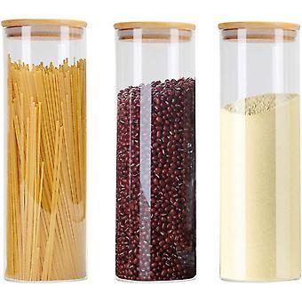 FengChun Vorratsdosen 3er Set, Vorratsdosen Glas Gewrzglser Luftdicht Glasbehlter aus Glasdose Mit