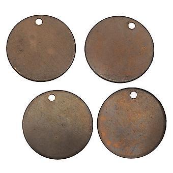 Vintaj Natural Brass, Cirkelhänge Stämpling Tom 24 Gauge 16mm, 4 Stycken