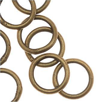البيع النهائي - خواتم القفز المغلقة النحاس العتيقة 7mm 19 قياس (20)