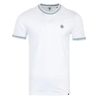 Pretty Green Solo Pique Tipped T-Shirt - White