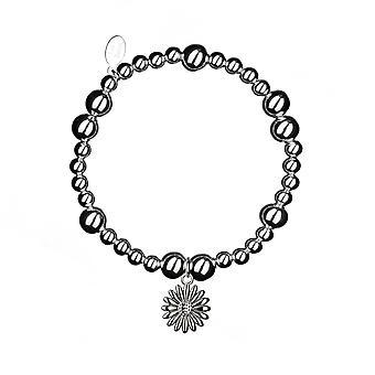 Chunky Daisy Stacking Bracelet - 17.5cm - Argent - Bijoux Cadeaux pour femmes de Lu Bella