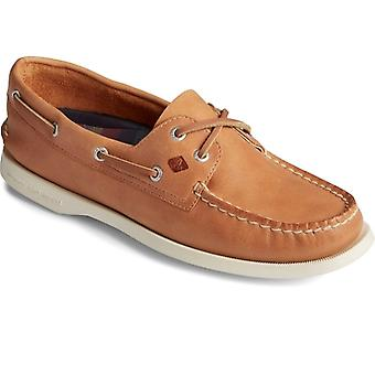 Sperry A/o 2-eye Splash Ladies Leather Boat Shoes Tan