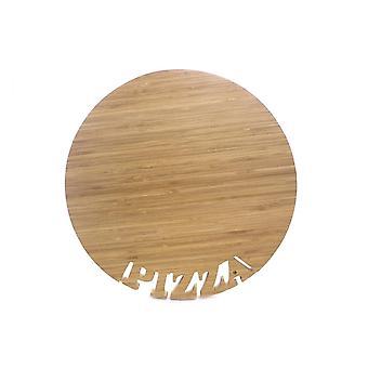 Bambu puinen pizza leikkauslauta 33x2 CM