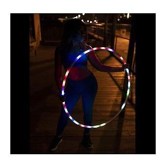 80 см светодиодный обруч с 8 цветами и цветообразующим обручем, подходящий для детей и взрослых