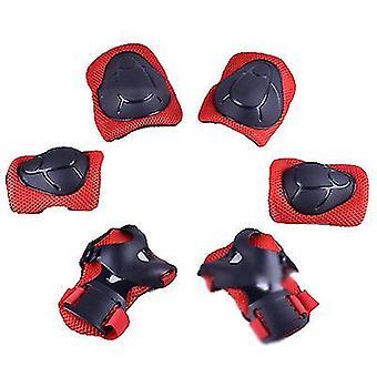 Rote Kinder Schutzausrüstung Set Kniepolster für Kinder 3-14 Jahre Kleinkind Knie x4996