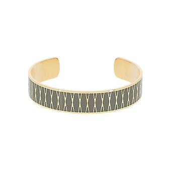 Open armband - Palma-apos; Groene emaille gouden afwerking