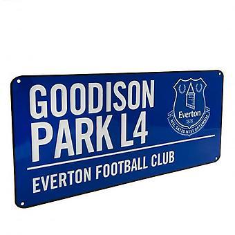 Everton FC Blue Street Sign
