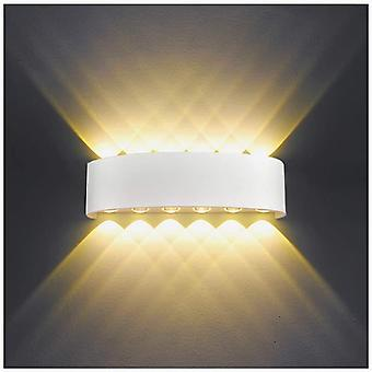 White 12w white led indoor wall lamp modern wall lamp aluminum sconce light up down spot light night lamp(warm white) dt6632