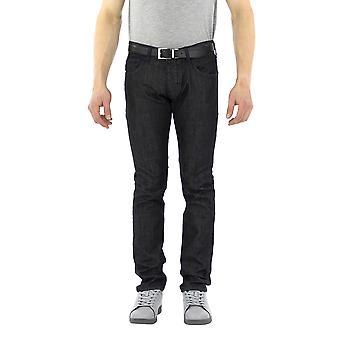 Armani Jeans Men 5 pockets Pants    Black