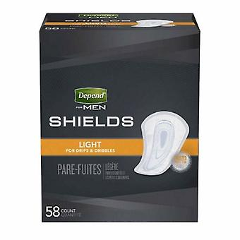 Kimberly Clark Bladder Control Pad Depend Guards for Men Light Absorbency Absorb-Loc Core One Size Fits Most Adul, Case of 174