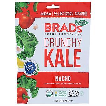 Brads plantebasert kale nacho crnchy, tilfelle av 12 x 2 oz