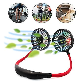 Mini USB Portable Fan Hands-Free Neck Fan Rechargeable Battery Small Portable Sports Fan Desk Hand Air Conditioner Cooler